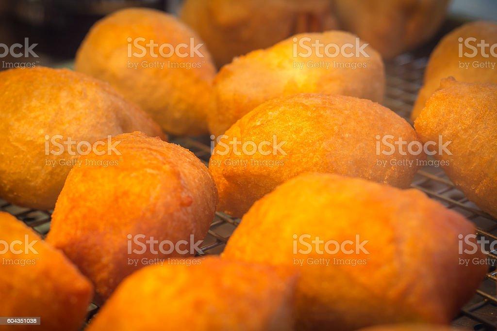 Deep Fried Zeppole stock photo