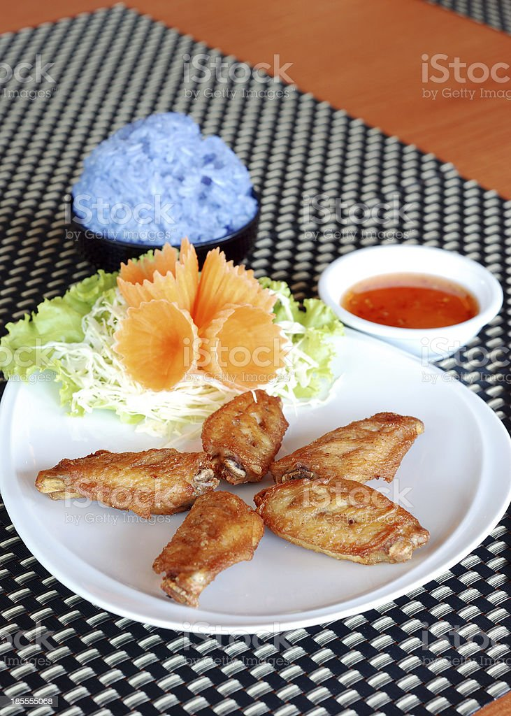 deep fry chicken wings royalty-free stock photo