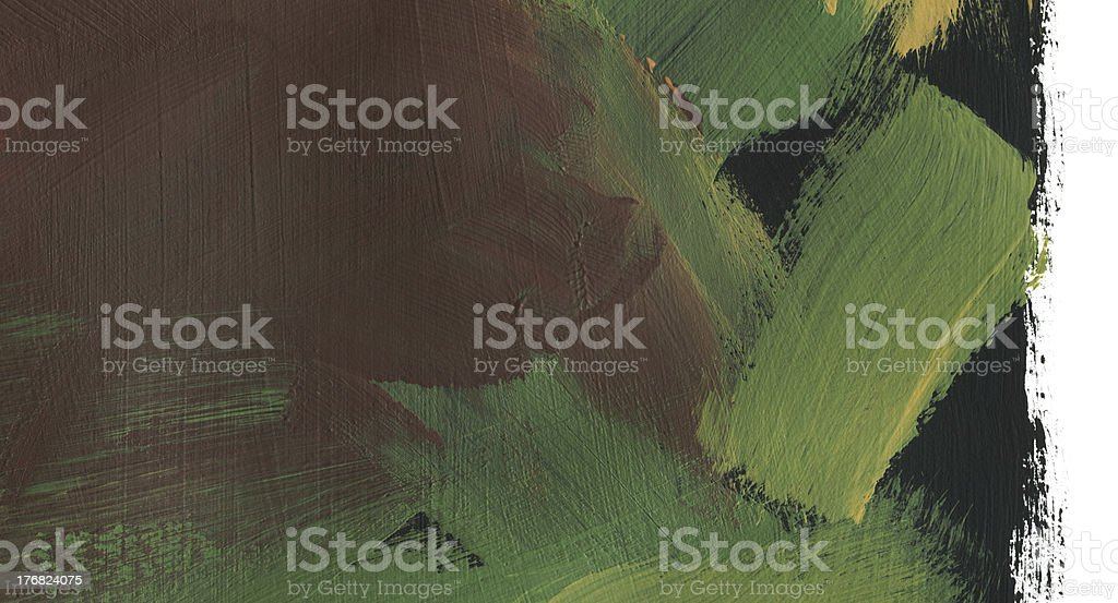 Deep Green and Brown Painting royalty-free stock photo