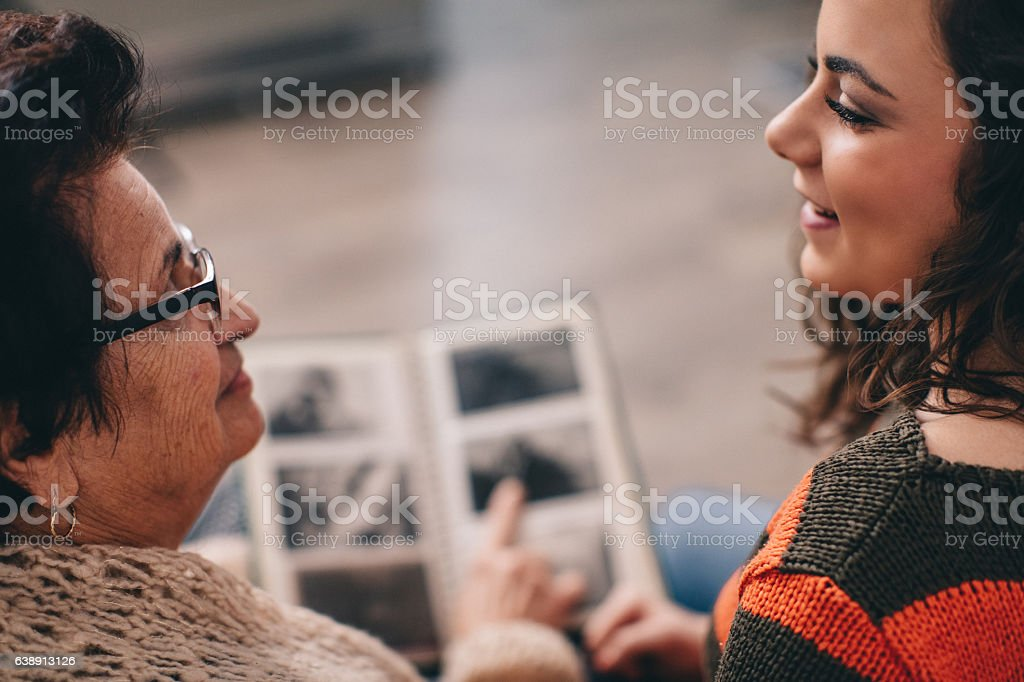Deep in memories... stock photo