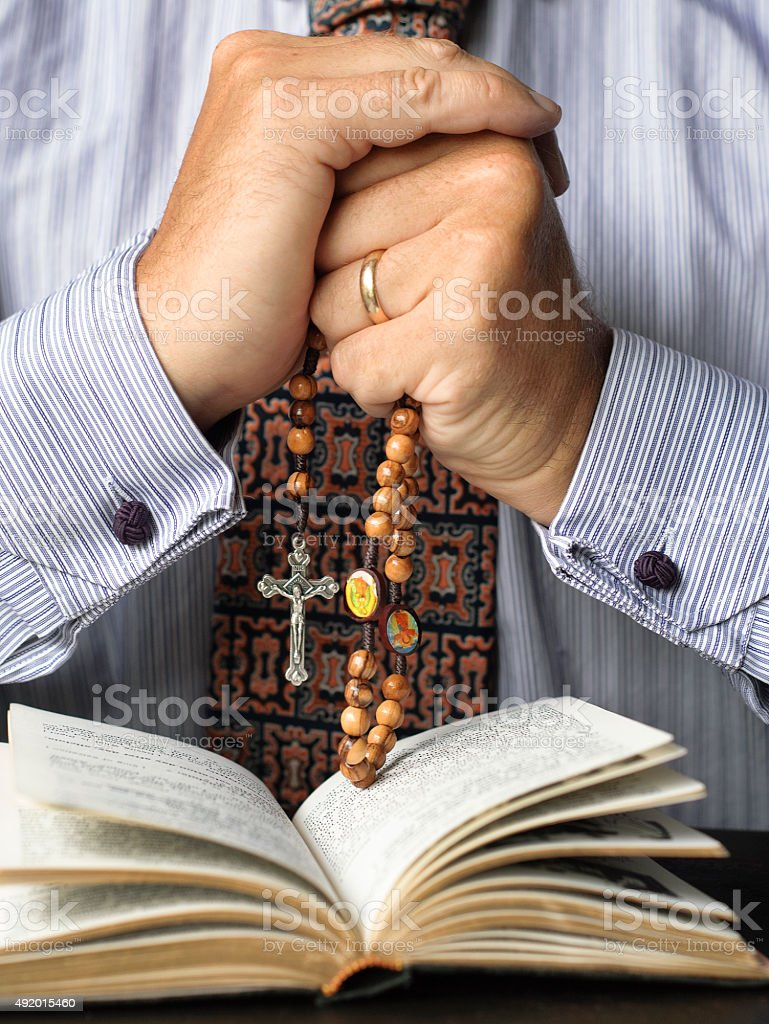 Deep in Prayer stock photo