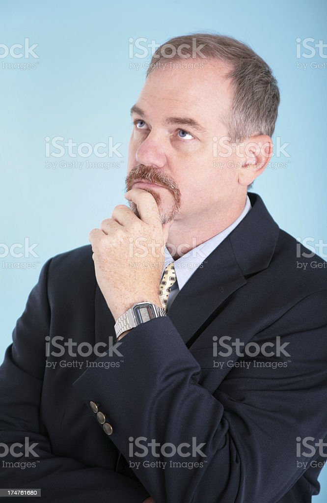 Deep in thought stock photo
