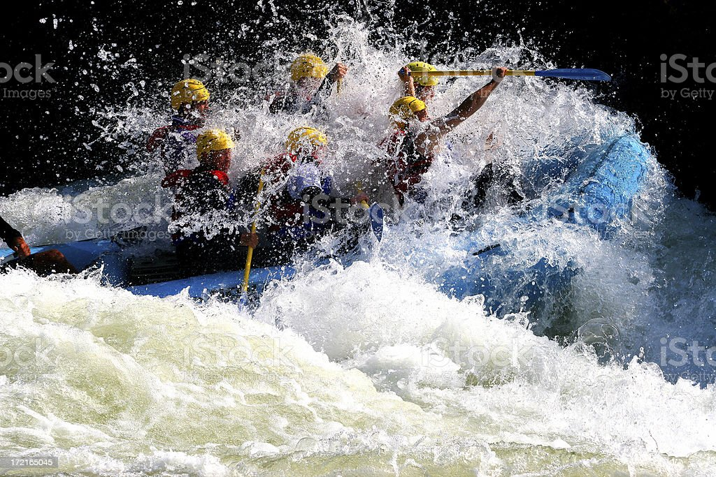 Deep in Whitewater stock photo