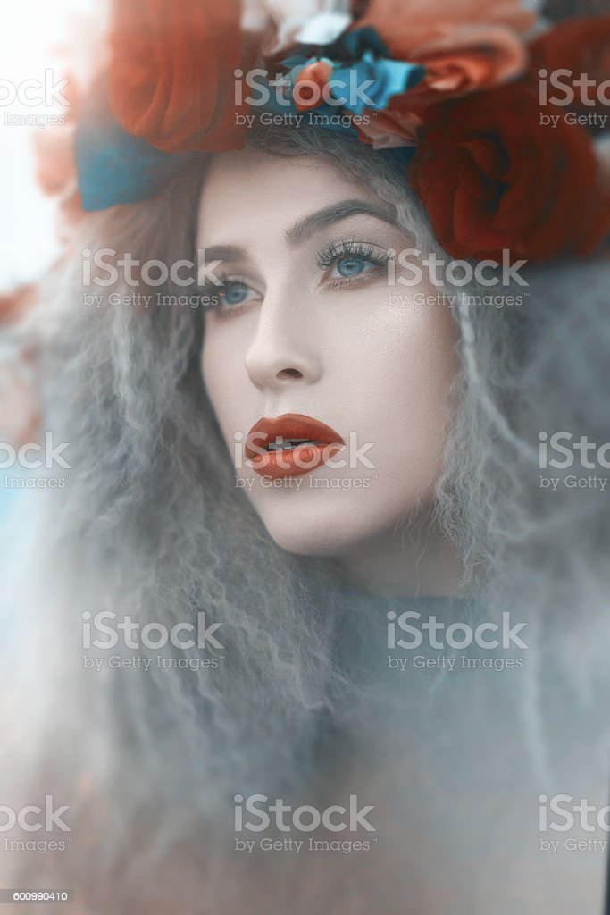 deep look of glamour woman stock photo