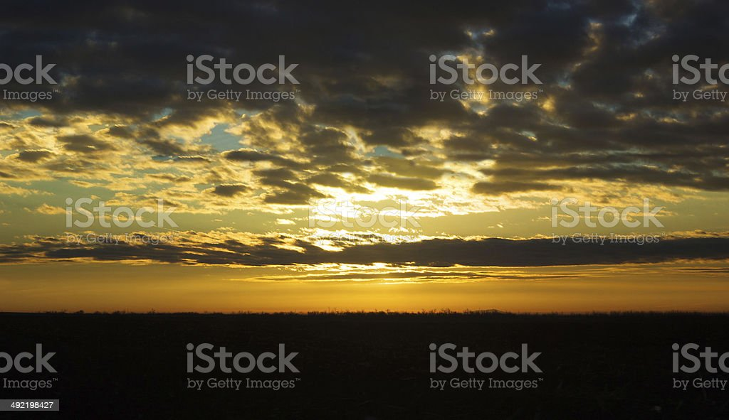 Deep orange cloudscape, beautiful sunset royalty-free stock photo
