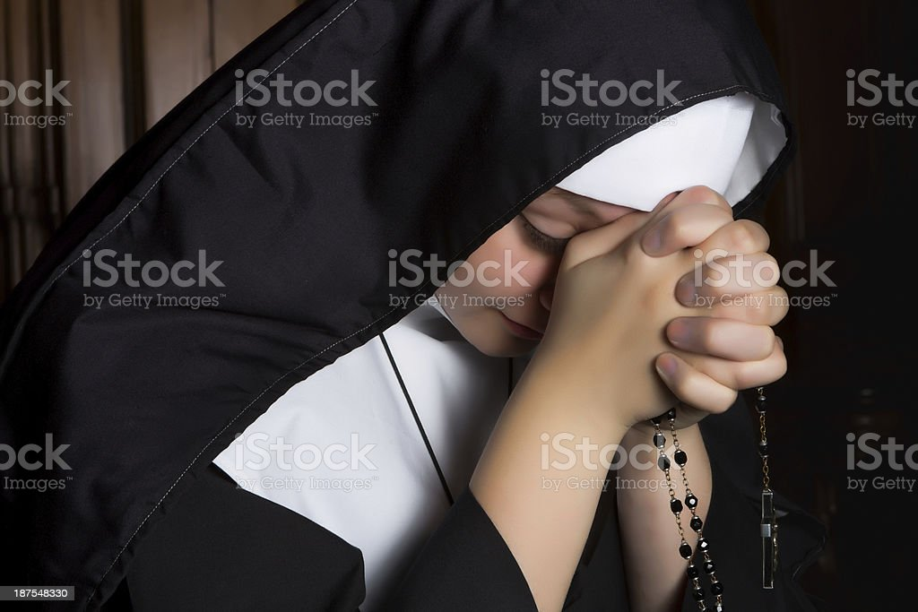 Deep prayer stock photo