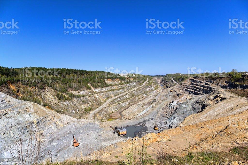 Deep quarry stock photo