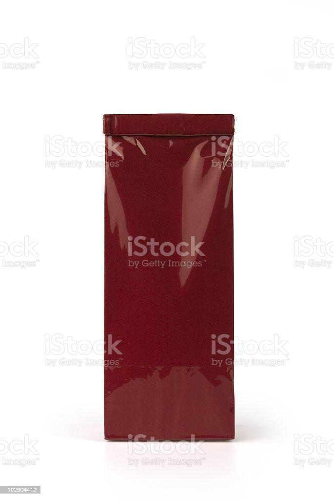 Deep red bag stock photo