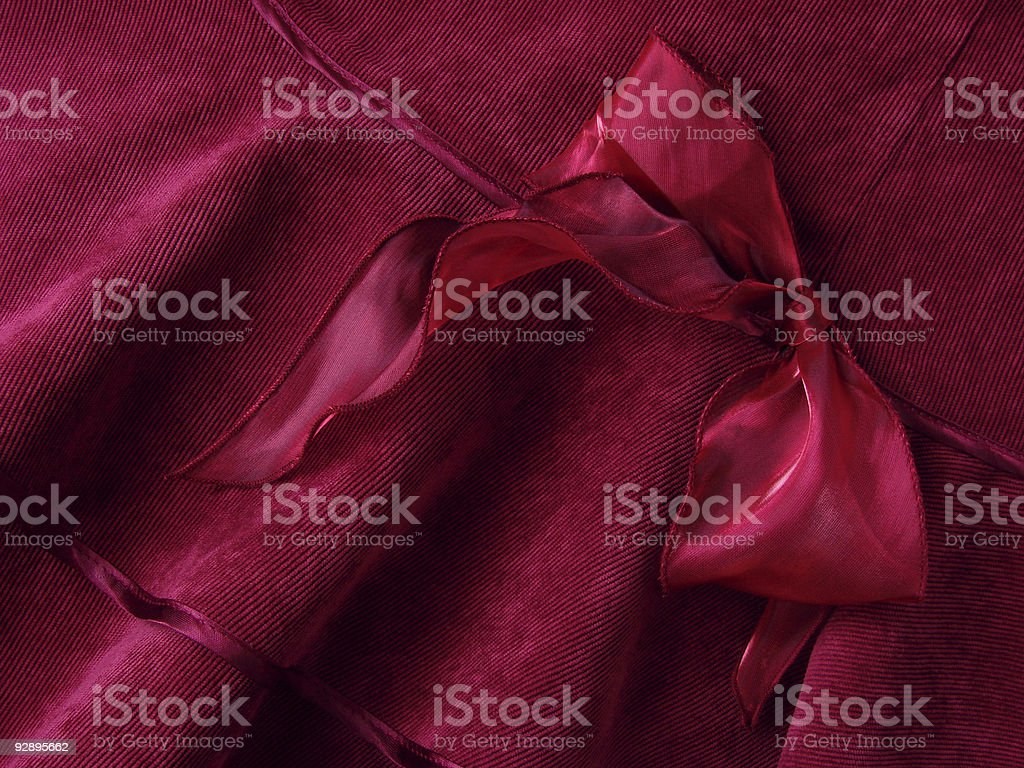 deep red bow royalty-free stock photo