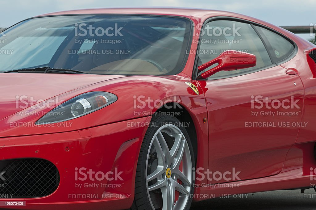 Deep red Ferrari stock photo