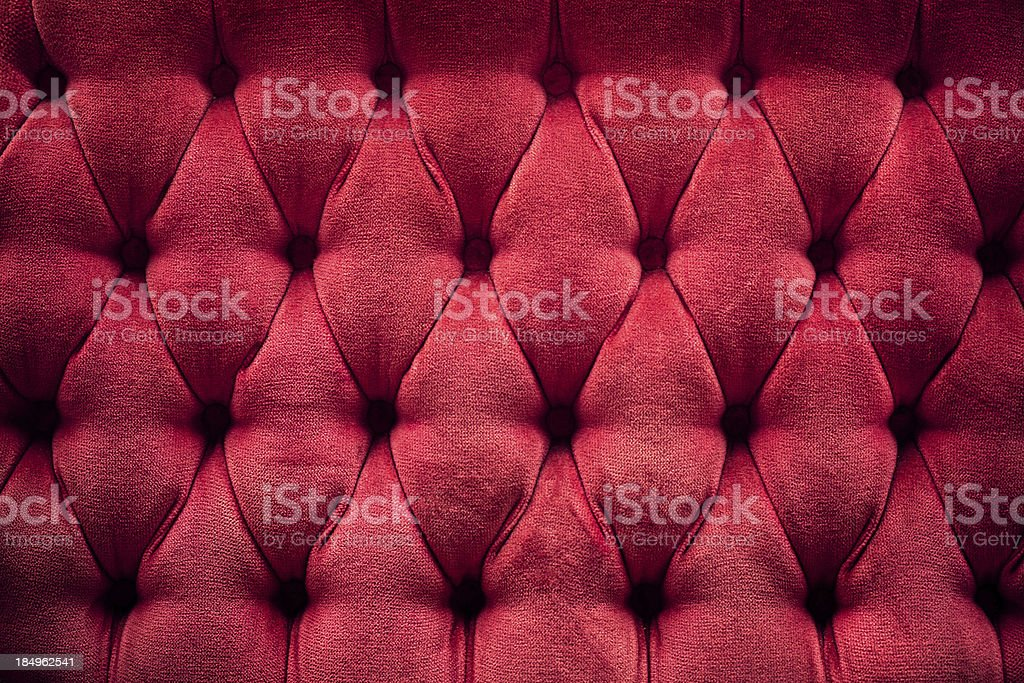 Deep Red Quilted Plush Cushion stock photo
