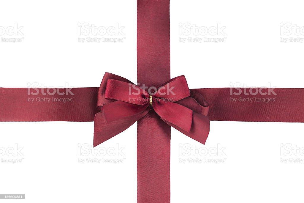 Deep red ribbon royalty-free stock photo
