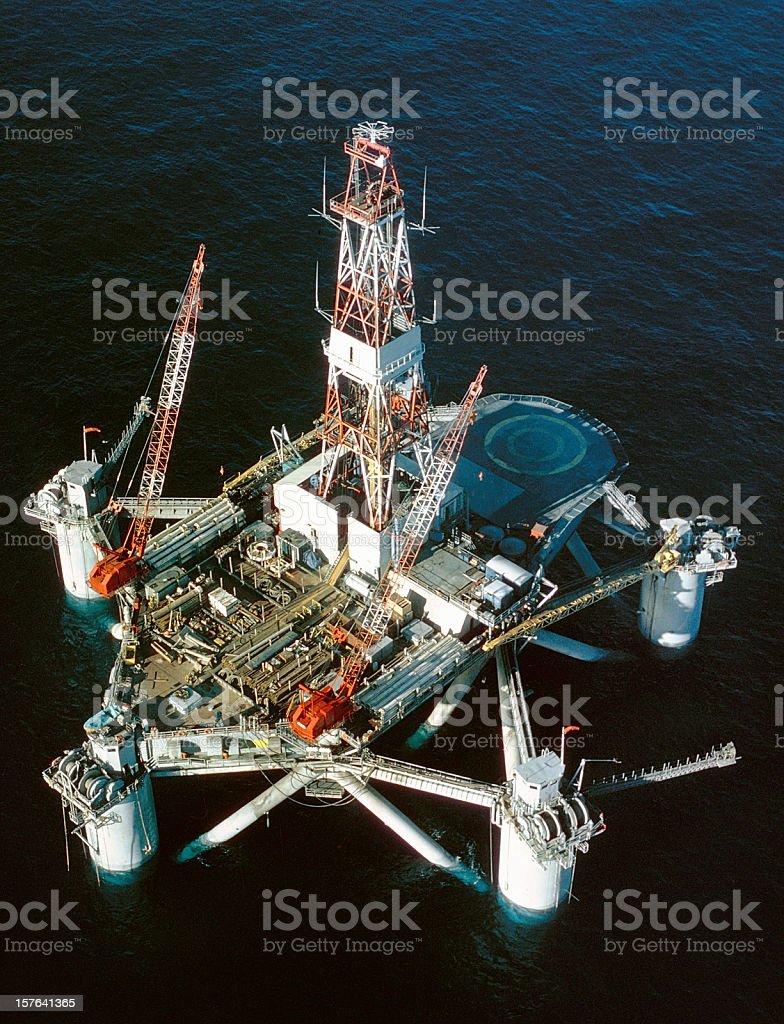 Deep Sea Drilling Rig stock photo