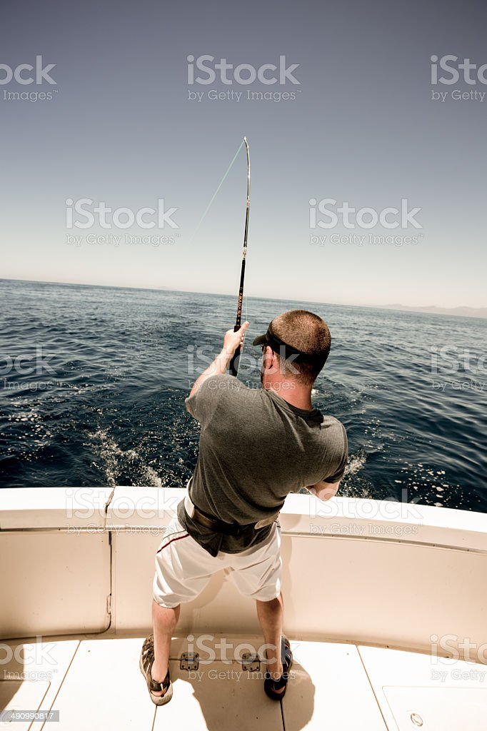 Deep Sea Fisherman stock photo