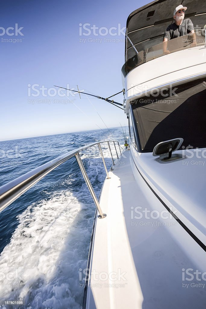 Deep Sea Fishing Boat and Captain royalty-free stock photo