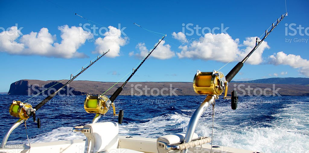 Deep sea fishing stock photo