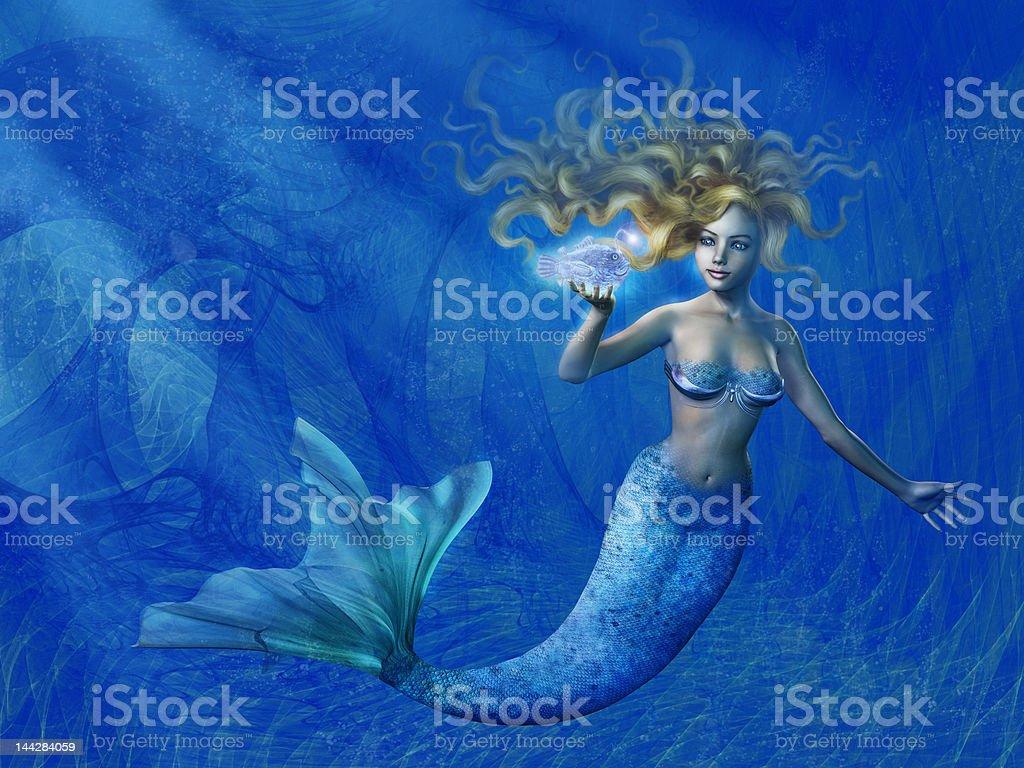 Deep Sea Mermaid royalty-free stock photo
