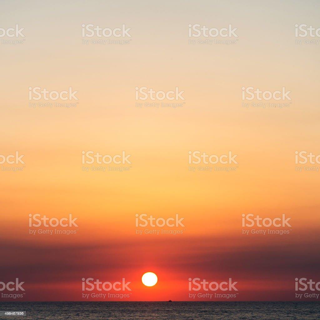 Deep sea sunset stock photo
