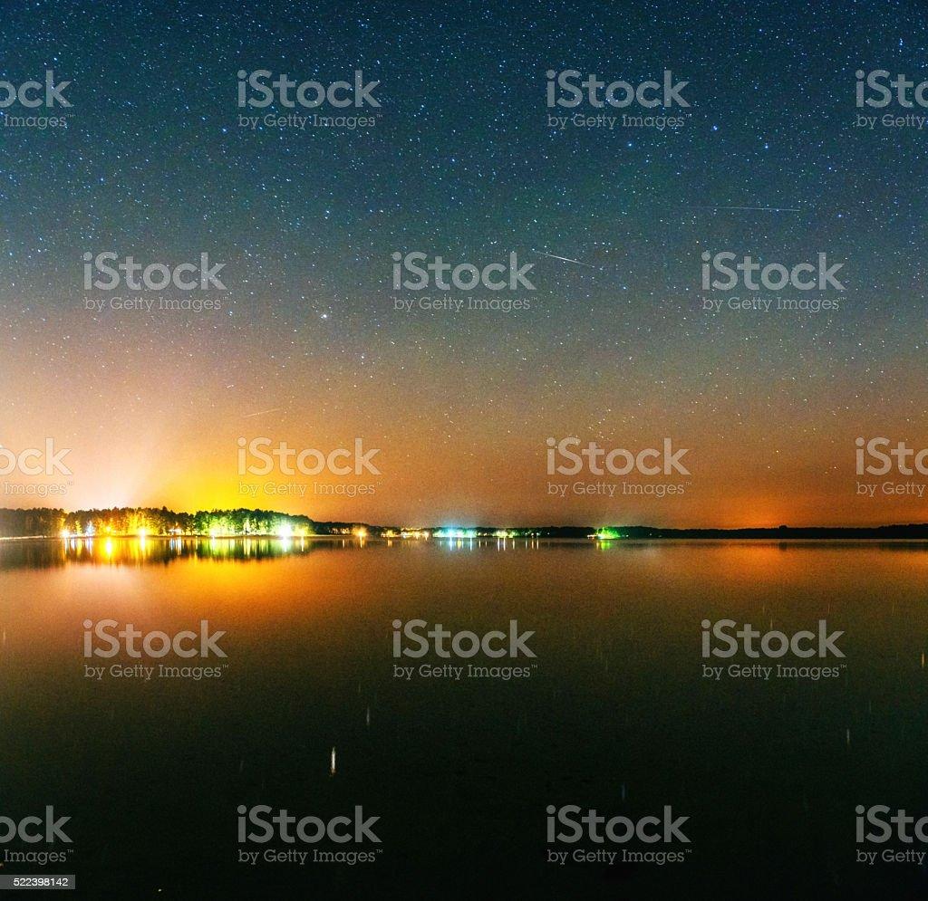 deep sky astrophoto, with grain stock photo