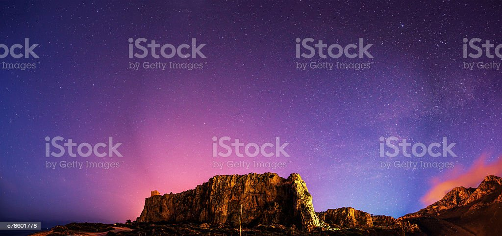 deep sky astrophoto , with grain stock photo