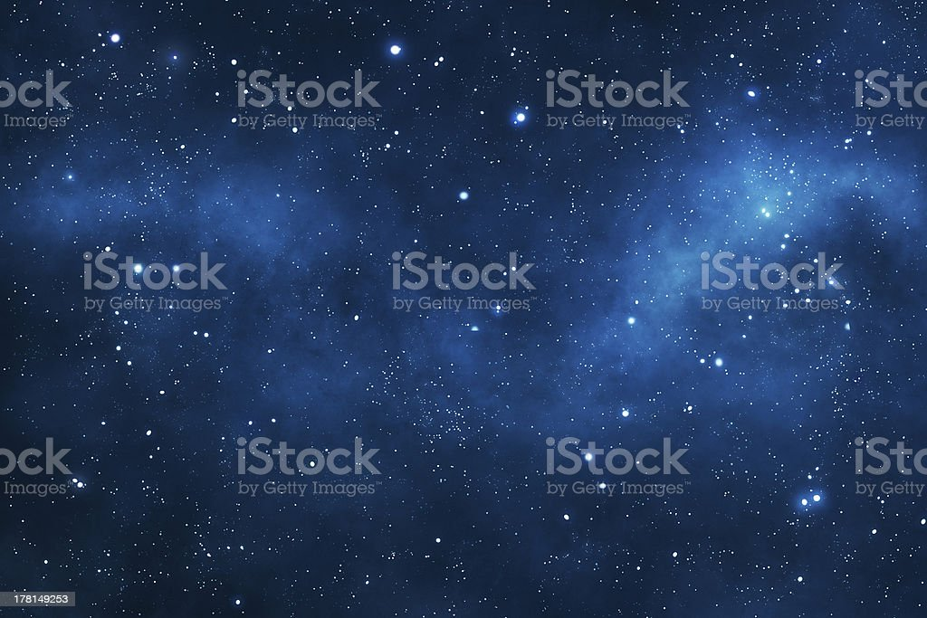 Deep space background stock photo