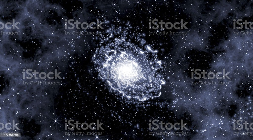Deep space background with galaxy stock photo