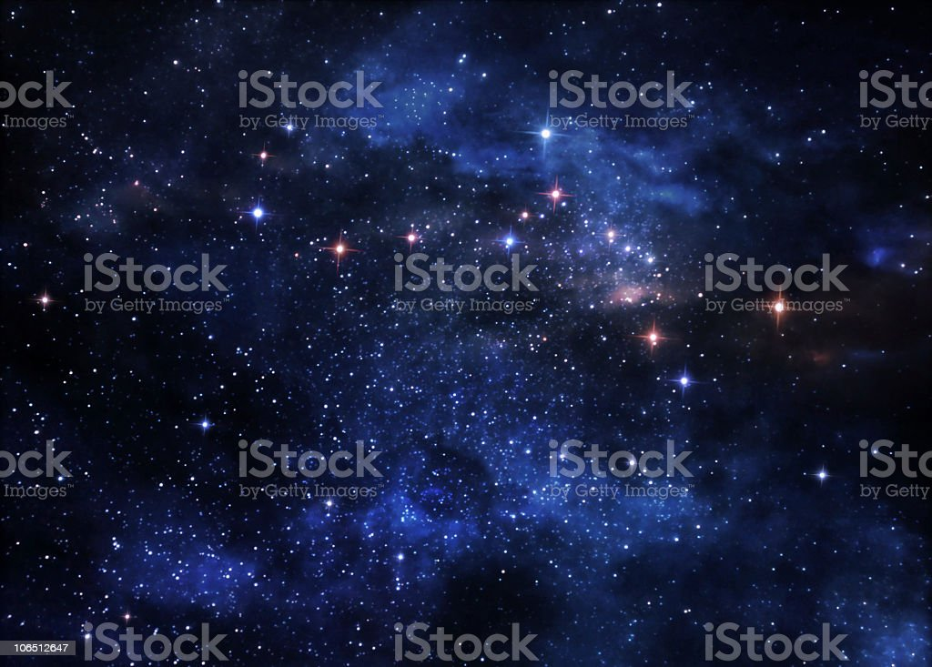 Deep space nebulae stock photo