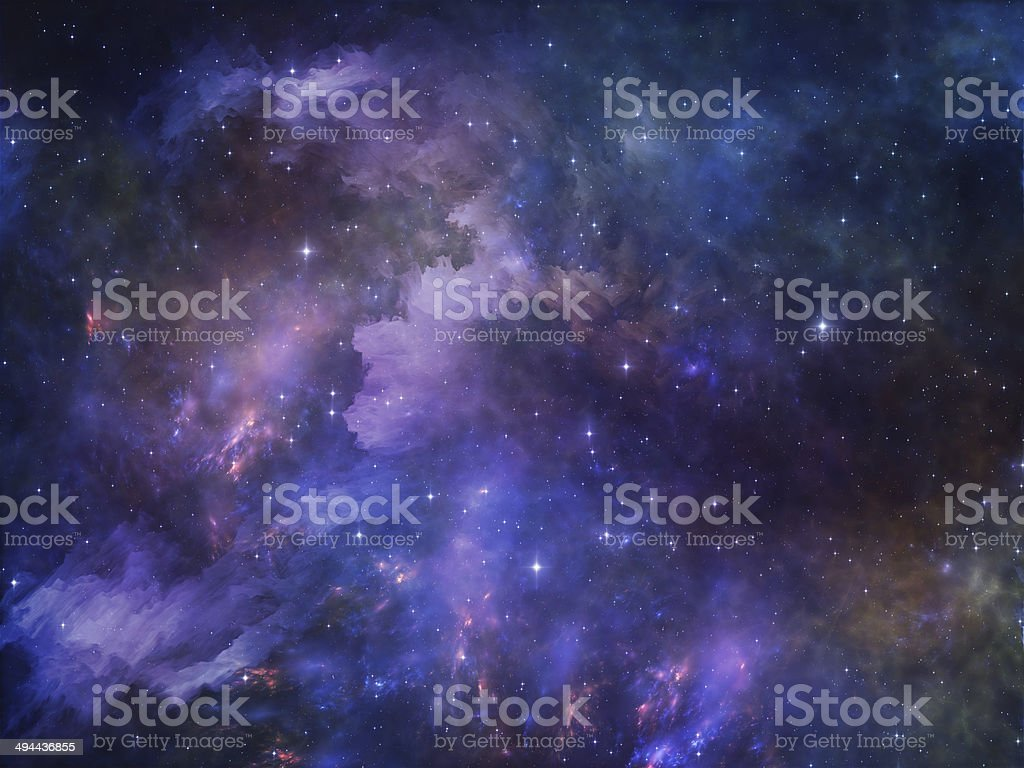 Deep Space vector art illustration