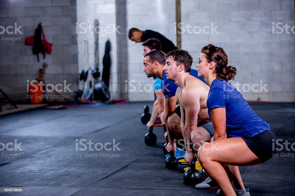 Deep Squats stock photo