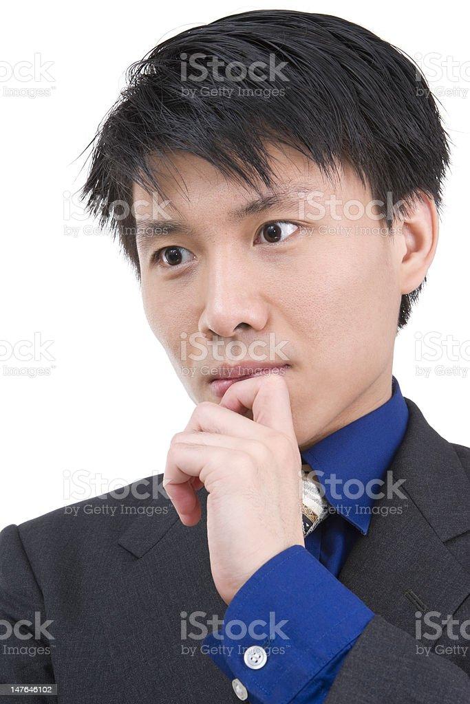 Deep thinker royalty-free stock photo