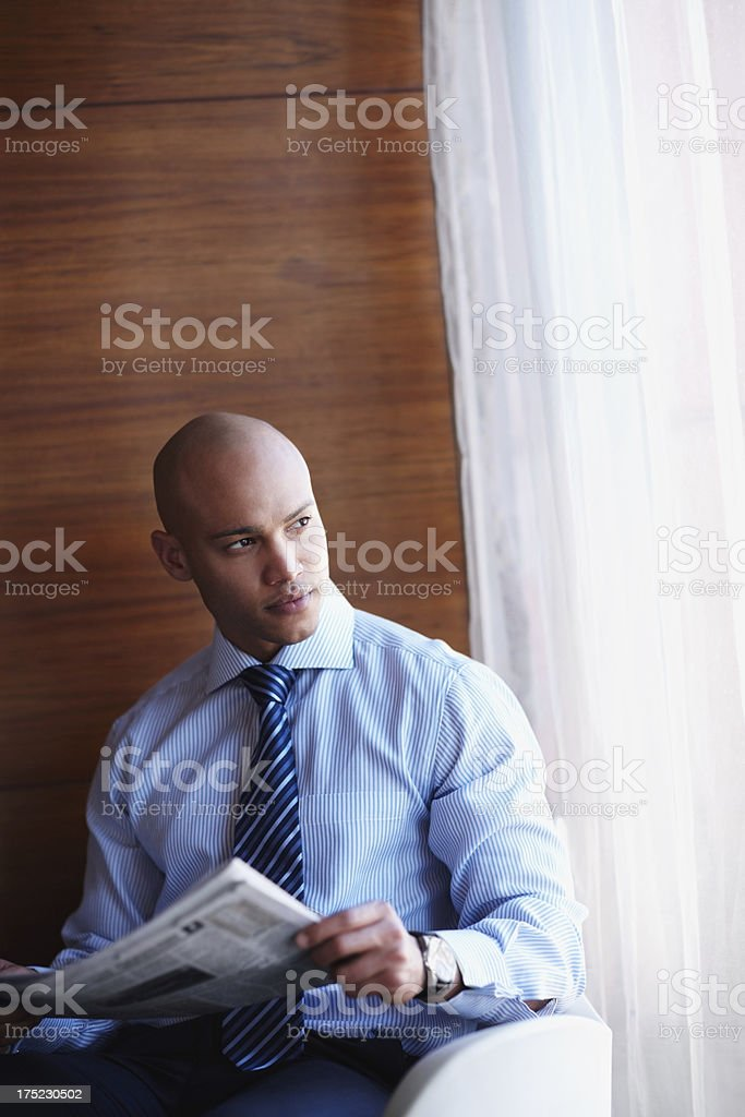 Deep thinker royalty-free stock photo