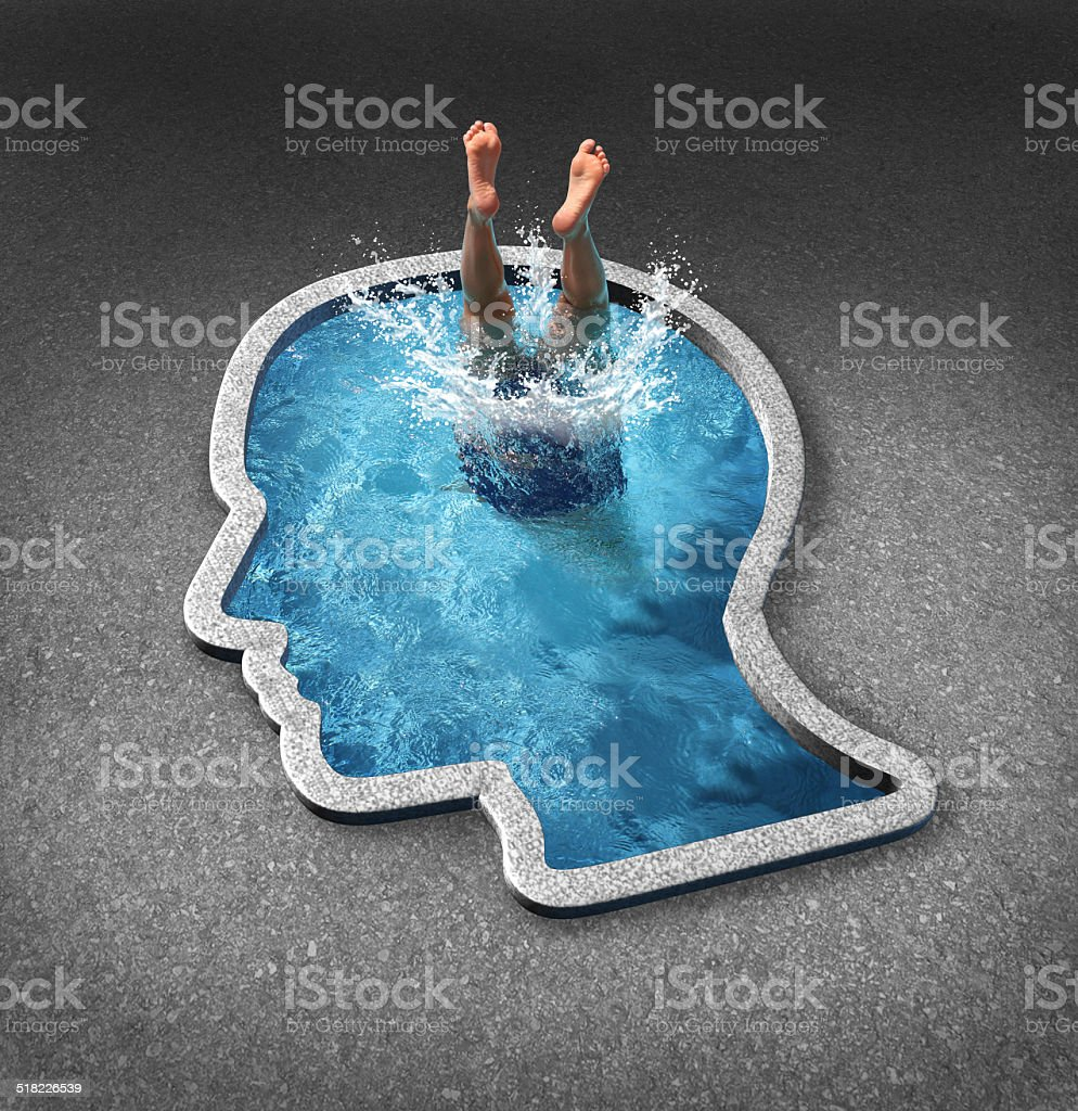 Deep Thinking stock photo