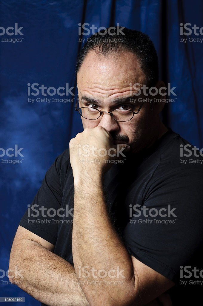 deep thought stock photo