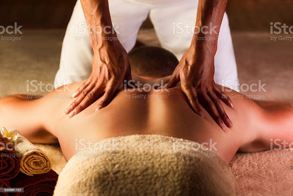 Deep tissue massage stock photo