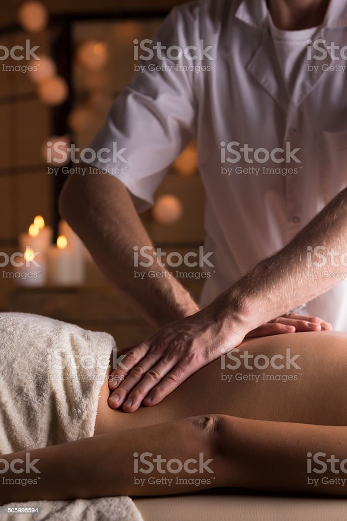 Deep tissue mobilization stock photo