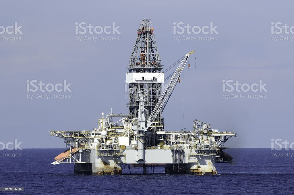 Deep water off shore oil rig stock photo