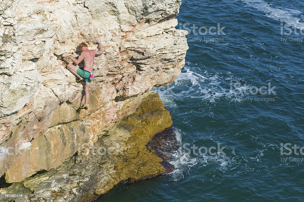 Deep Water Solo Demonstration royalty-free stock photo