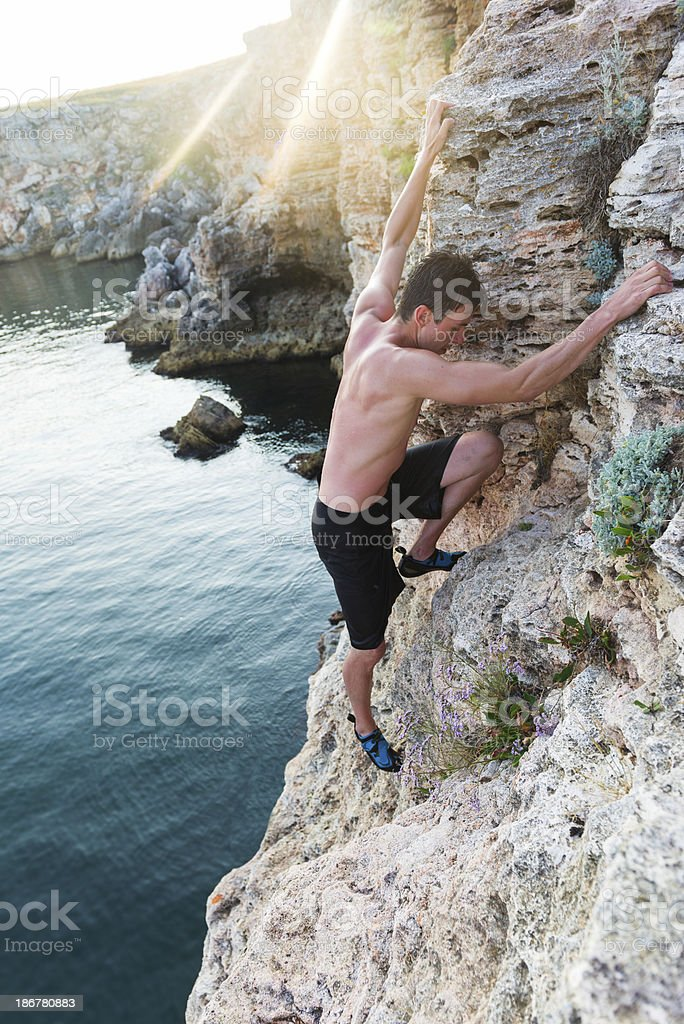 Deep Water Solo Experience royalty-free stock photo