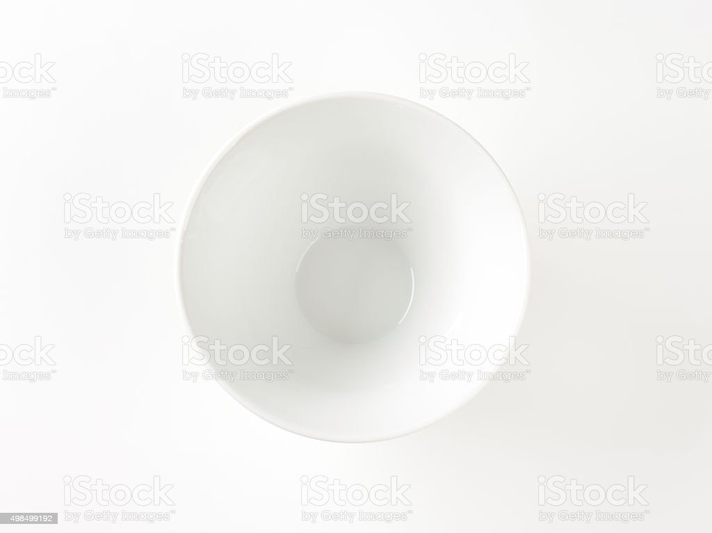 Deep white bowl stock photo