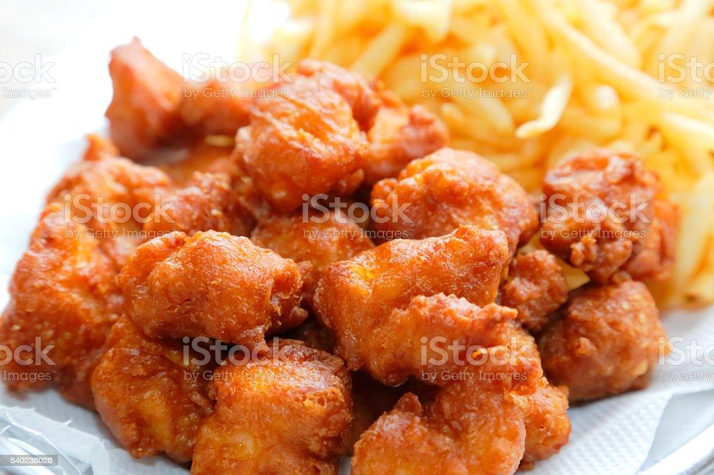 Deep-fried chicken stock photo