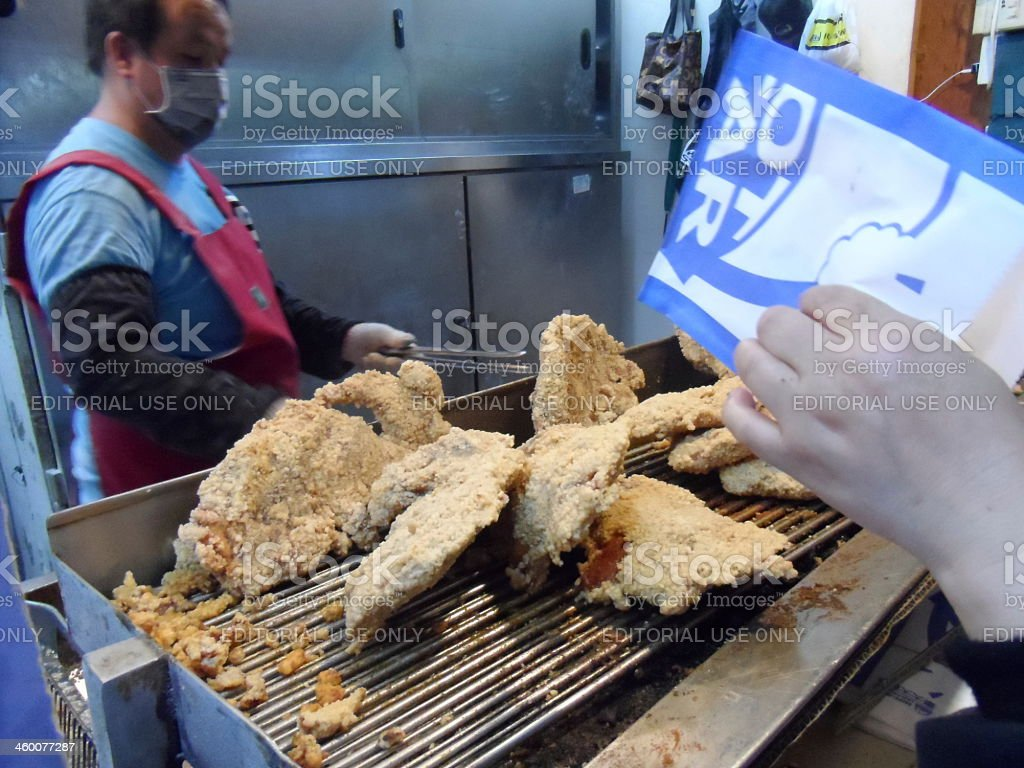 Deep-fried chicken shop in Taiwan royalty-free stock photo