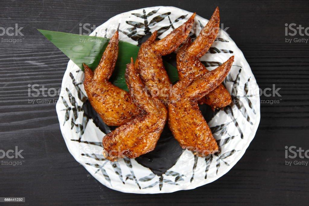 Deep-fried Chicken Wings stock photo