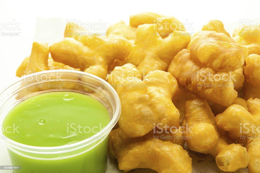 deep-fried dough stick stock photo