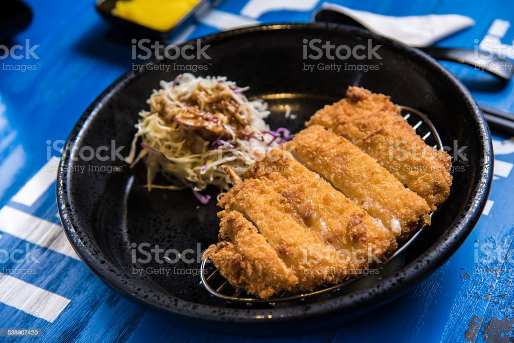 Deep-Fried Spare Ribs stock photo