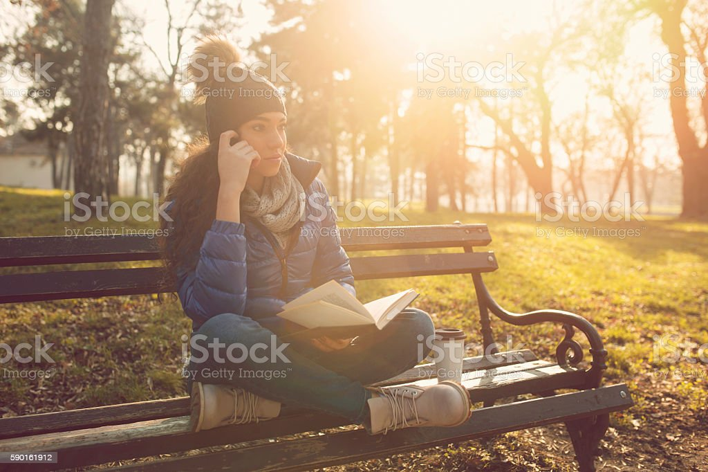 Deeply thoughtful stock photo