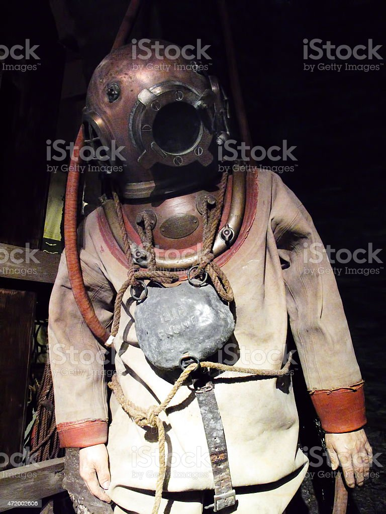 Deep-sea diving suit stock photo