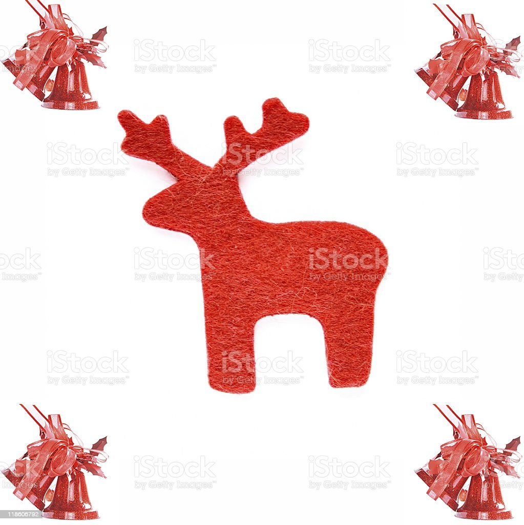 Deer and bell royalty-free stock photo