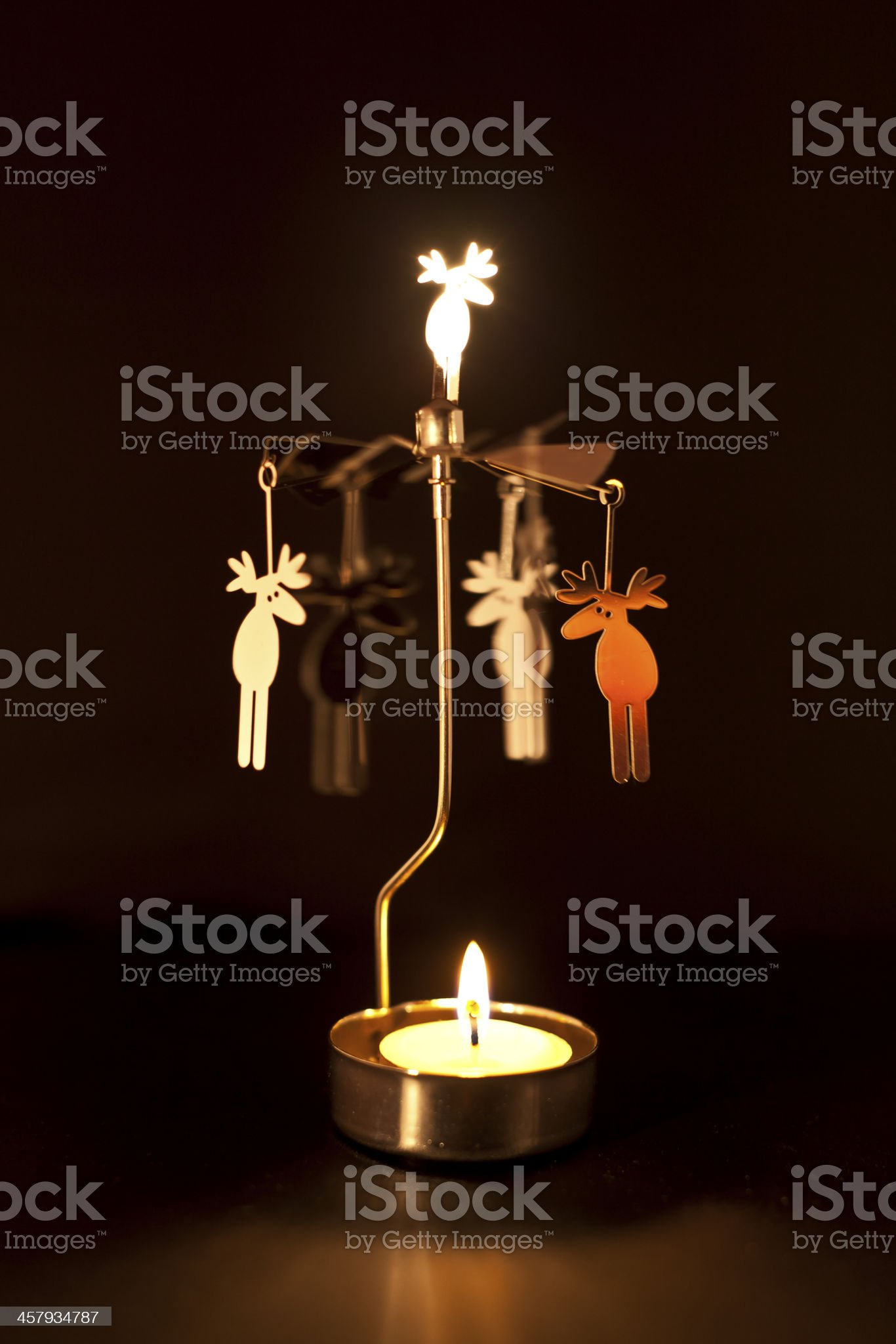 Deer Candle Carousel spinning table home decoration royalty-free stock photo