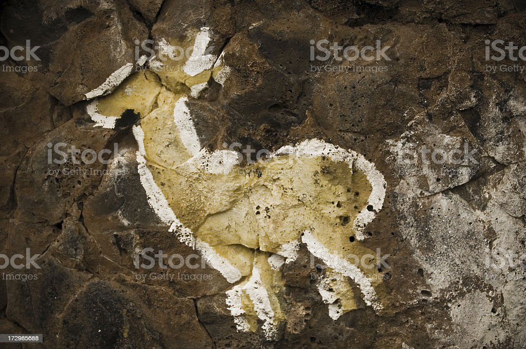 Deer cave painting royalty-free stock photo