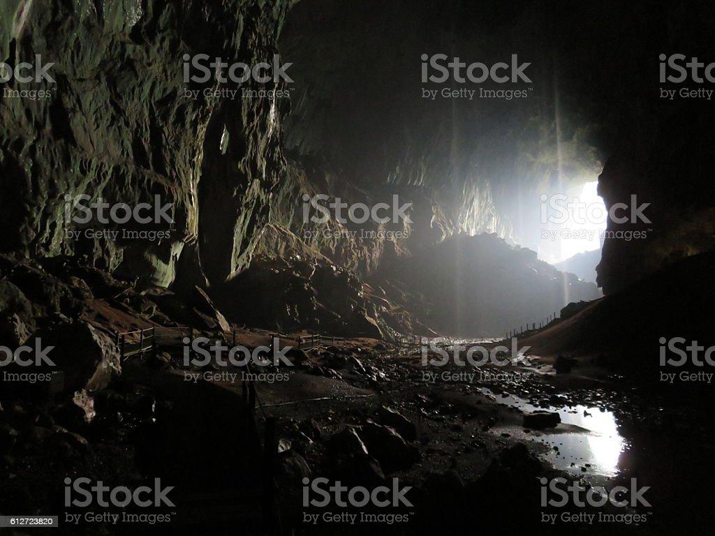 Deer Cave stock photo